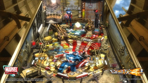 captain america table screenshot001 620x348 Captain America Table Heading to Marvel Pinball