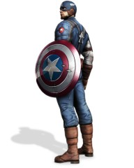 Cap Pose 01  192x240 custom Captain America: Super Soldier Wii Review