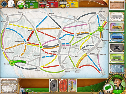 Ticket to Ride iPad