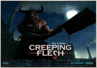 6388HOTH PS3 Creeping Flesh Poster1 Grindhouse Overkill Meats Slaughterhouse