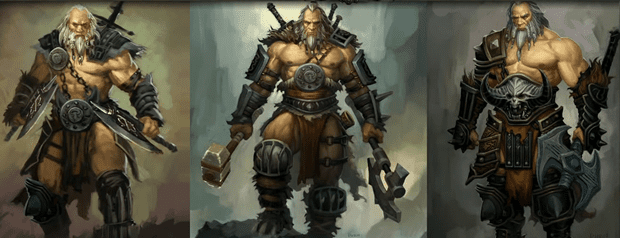barbarian Diablo III beta  Barbarian run