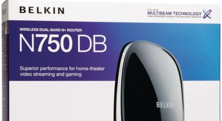 box snip Belkin N750DB Router Review
