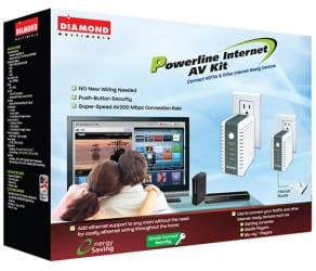 diamond hp200av Diamond HP200AV Powerline Internet AV Kit Review