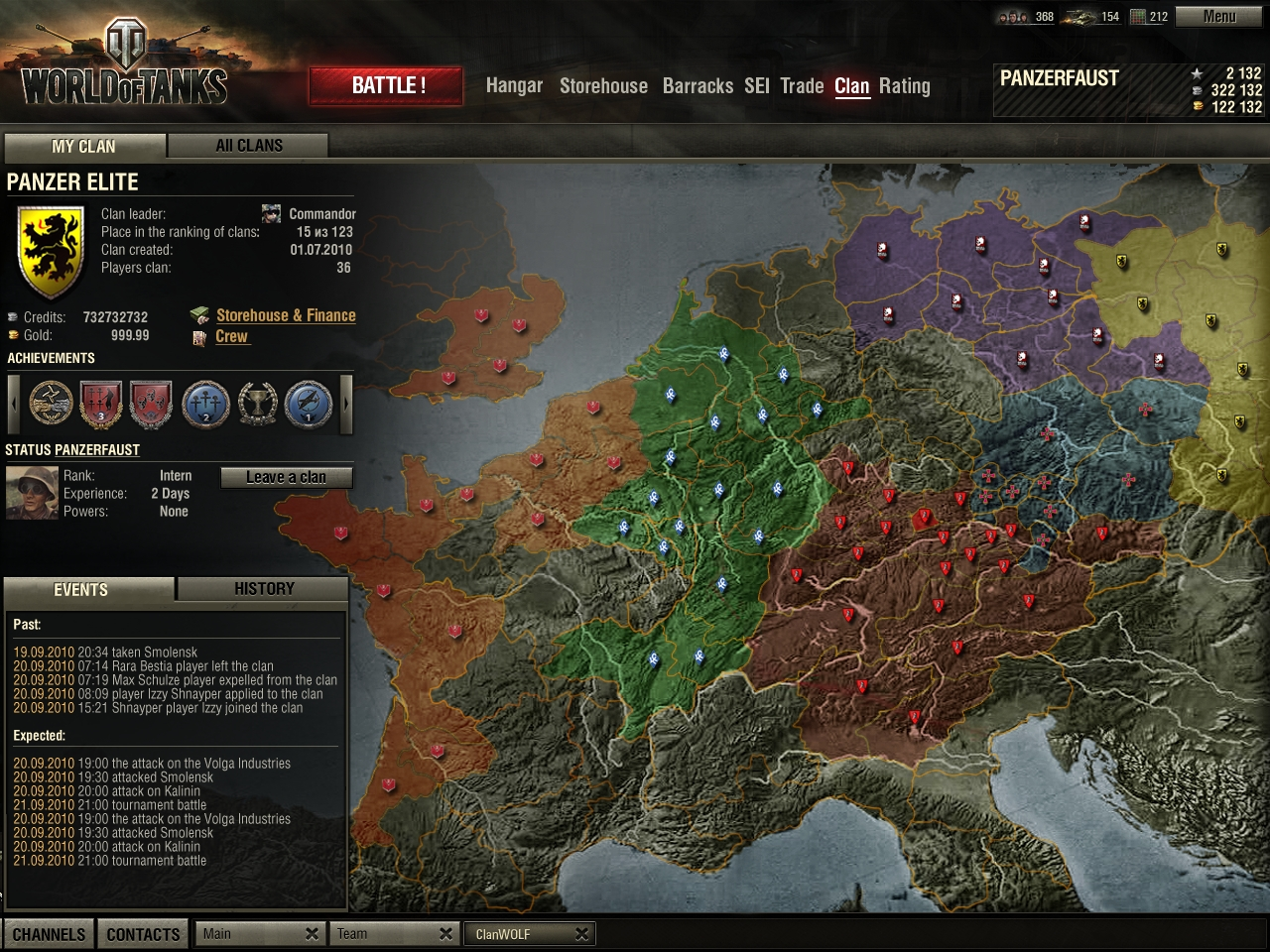 World of Tanks globalmap