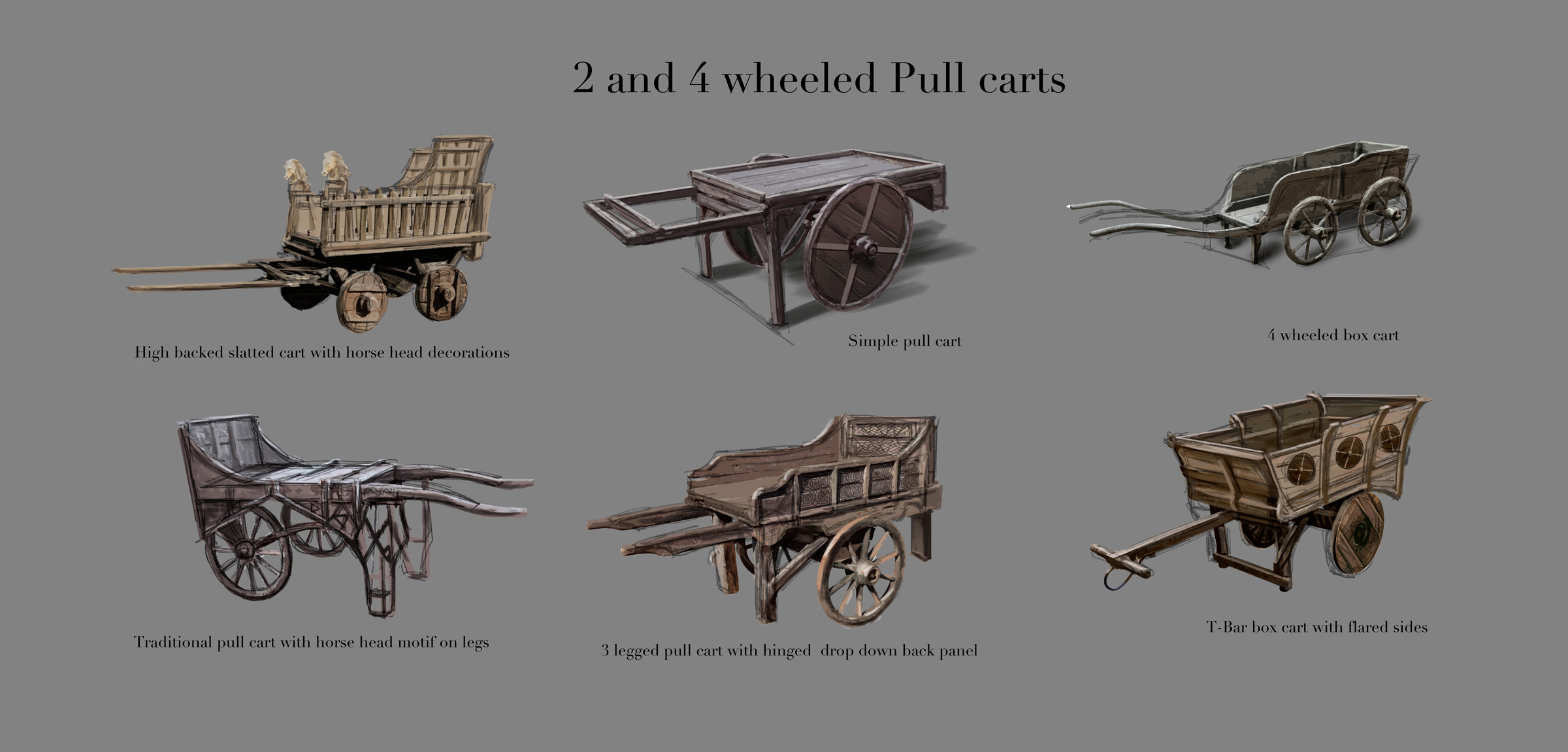 LOTRO_Riders_of_Rohan_2_and_4_wheeled_pull_carts