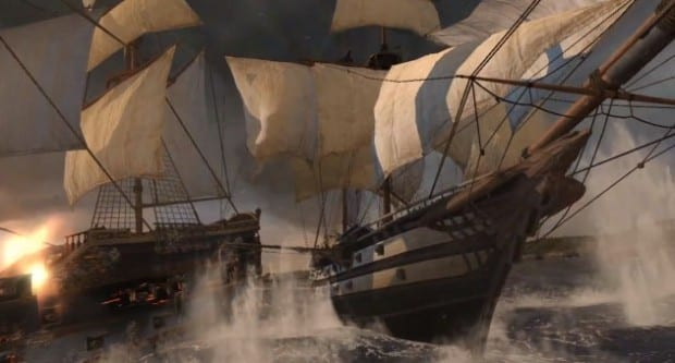 Assassins Creed III Naval Warfare Batten Down the Hatches With a New Assassins Creed III Naval Battle Trailer   With Commentary!