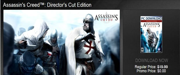 free assassins creed Assassins Creed: Directors Cut Free for Limited Time