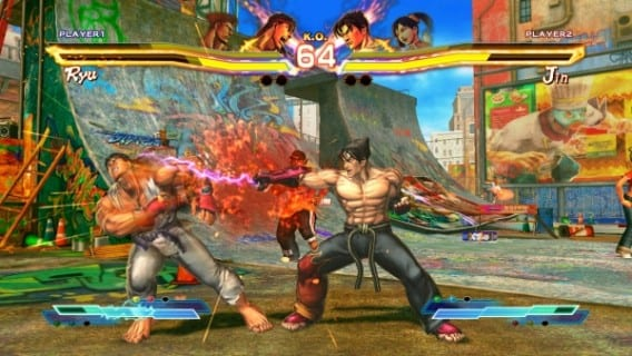 Street Fighter X Tekken Jin vs Ryu Street Fighter X Tekken PSVita BATTLE!