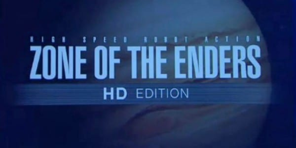 ZONE OF THE ENDERS HD COLLECTION 600x300 Hideo Kojimas Mech Series Zone of the Enders to get HD Re release.