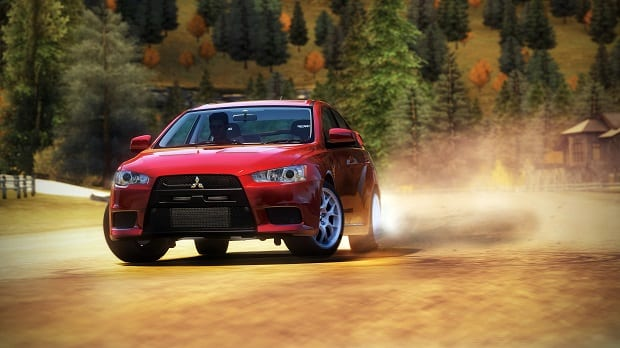 2008 MistubushiEvo Dirt21 Forza Horizon breaks away from the rat race