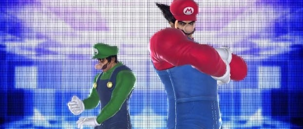 mario toujyou001 Dress up as Mario and Bowser in Tekken Tag Tournament 2 on the Wii U