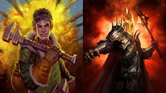 Guardians of Middle Earth Hildifons and Sauron Guardians of Middle Earth Review