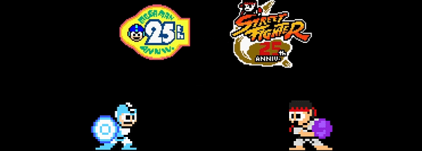 street fighter header Blue Bomber turns 25, and to celebrate Capcom pits him against Street Fighter cast