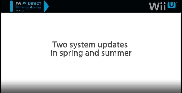 wii u update Wii U to receive system updates in spring and summer, Virtual Console forthcoming