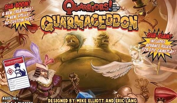 Quarriors Quarmageddon Box Top sml e1360260018270 Quarriors!  Prepare to Die!     Quarriors! Quarmageddon Review