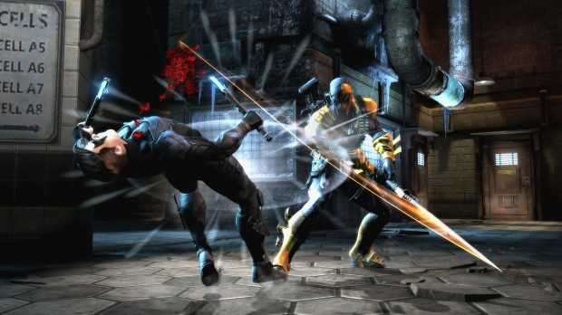 "DCF DeathStroke NightWing Arkham II 620x348 NetherRealm wants Injustice: Gods Among Us to be a ""cinematic experience."""