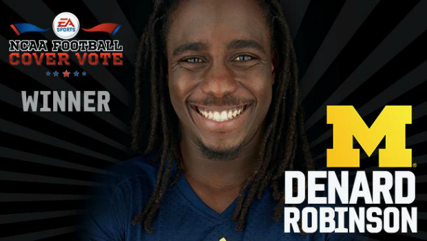 DenardRobinson Michigans Denard Robinson voted NCAA 14 Cover Athlete