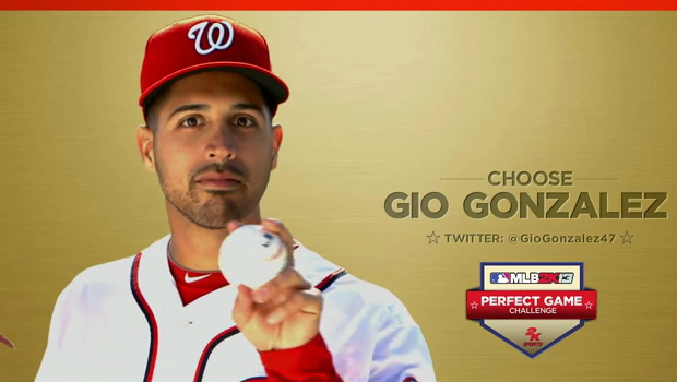 Gio Gio Gonzalez campaigns in newest MLB 2k13 Perfect Game Challenge video