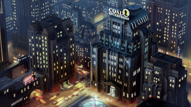 SimCity coal HQ city Night 620x350 EA and Maxis finally announces titles available as restitution for SimCity launch