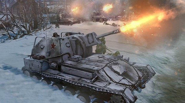 companyofheroes2screenshotbarrage Sitzkrieg on as Company of Heroes 2 delayed until June