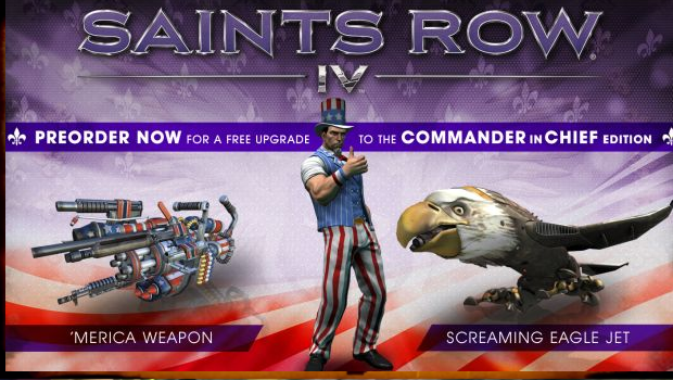 sr2 Deep Silver announces pre order bonuses for Saints Row 4   free Commander in Chief edition upgrade