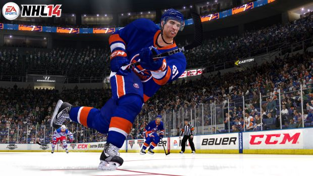 NHL14 NYI tavares shot WM resize EA Sports releases final dev diary for NHL 14, unveils Fight Night tech