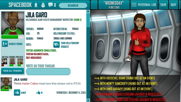 Redshirt Spacebook Almost as addictive as the real thing   Redshirt Preview