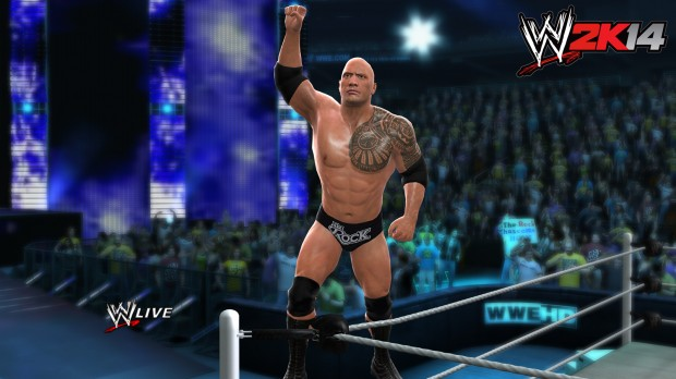 Rock Entrance 620x348 The Rock returns to be the Peoples Cover Athlete in WWE 2K14