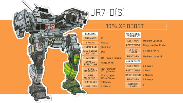 jr7 ds 1 MechWarrior Online offers custom Mech to stomp out cancer
