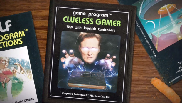 "ConanClueless620x350 ""Let's never do this again""   Watch Conan try to play an Atari 2600"