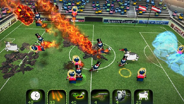flead1 1 FootLOL: Epic Fail League brings land mines, fireballs to soccer