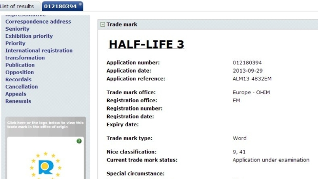 HL3 65521 screen Half Life 3 trademarked by Valve
