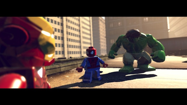 spidey and hulk You wont like me when Im angry...    LEGO Marvel Super Heroes