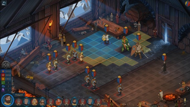 Combat screen3 e1389666498455 Valhalla trail    The Banner Saga review