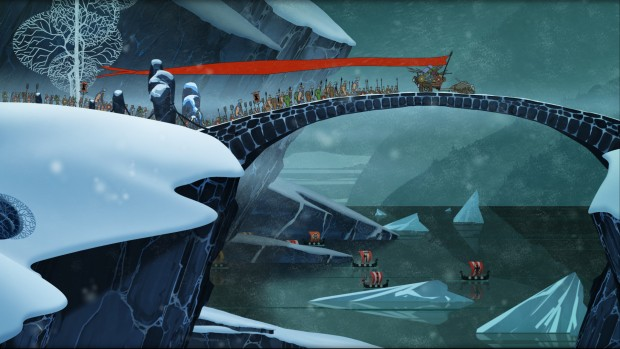 TBS Travel Bridge screenshot e1389666415293 Valhalla trail    The Banner Saga review