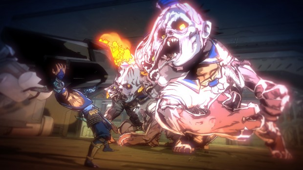YaibaBoss 620x348 The horror   Yaiba: Ninja Gaiden Z review