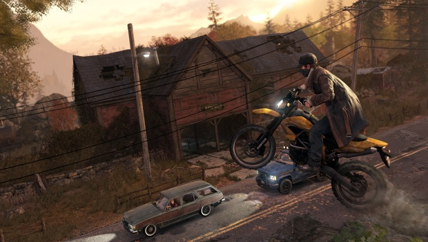 wd motorcycle Digital Parkour   hands on with Watch Dogs