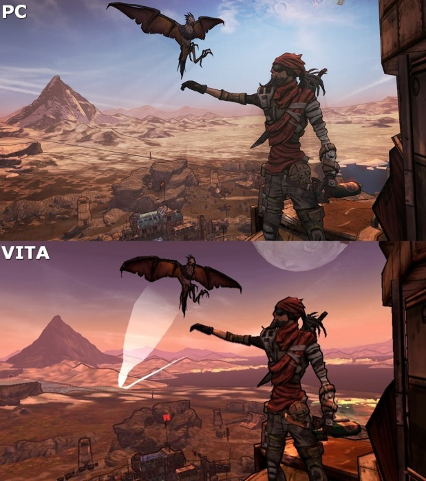 B2V Comparison1 e1400454246570 Borderlands 2 Vita Review