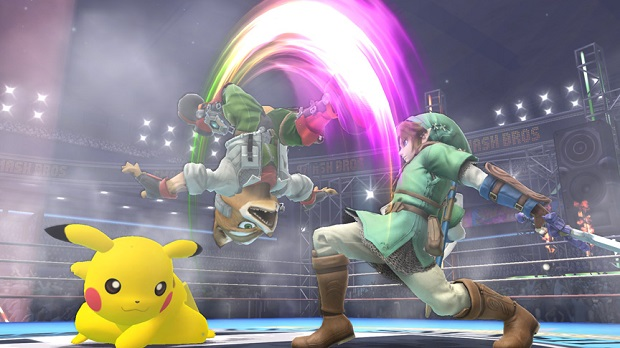 Link Fox and Pikachu Battle in Stadium Super Smash Bros. is Shaping Up Nicely on Both Wii U and 3DS