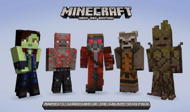 Minecraft Getting Guardians of the Galaxy Skins