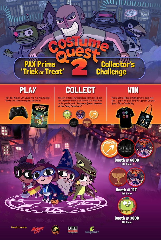 Double Fine Has a Costume Quest 2 Contest Going on at PAX Prime