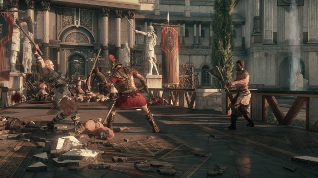 You'll fight in a variety of locales, from the forests of Britain to the very roads and alleys of Rome itself