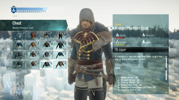 What aspiring assassin doesn't like a flashy coat?