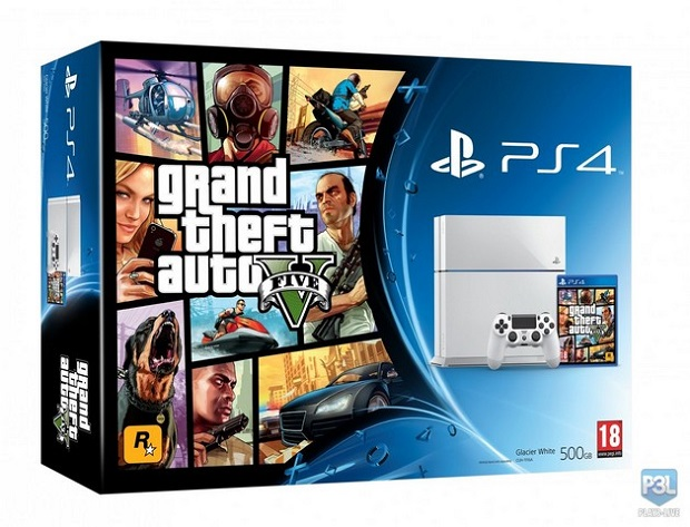 Grand Theft Auto PS4 Bundle Coming With Black and White Consoles