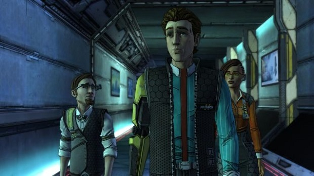 With <a href=http://gamingtrend.com/game_tag/tales-from-the-borderlands/>Tales from the Borderlands'</a> first episode going live today, TellTale has released the series' launch trailer. Tales from the Borderlands stars original characters Rhys and Fiona, as they retell their story in a framed narrative. Players will play as both characters as they give their sides of the story. Gearbox and TellTale's collaboration came from a desire to expand the Borderlands universe in a more story-driven way, as the company's recently revealed in a <a href=http://gamingtrend.com/video-post/telltale-and-gearbox-talk-the-conception-of-tales-from-the-borderlands/>behind-the-scenes video</a>. TellTale recently <a href=http://gamingtrend.com/2014/11/13/new-trailer-vo-cast-announced-telltales-tales-borderlands/>revealed the game's cast</a>, which will feature Troy Baker and Laura Bailey as Rhys and Fiona. For more on TellTale's Borderlands adaptation, check out our <a href=http://gamingtrend.com/2014/07/11/tales-borderlands-brings-borderlands-mechanics-telltales-familiar-format/>impressions</a> of the game's showing at E3.