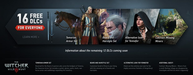 The Witcher 3 is Getting 16 Free DLC Packs