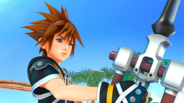 A still image featuring Sora holding a Keyblade, from E3 2013.