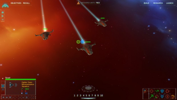 In Homeworld 2 units are grouped into squadrons.
