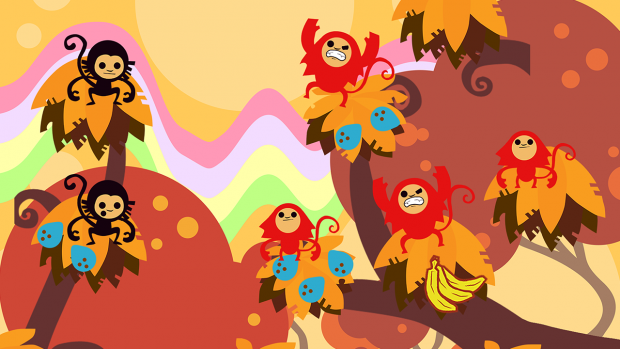 The game ramps up in difficulty quick as new enemies, like these bigger apes, are introduced.