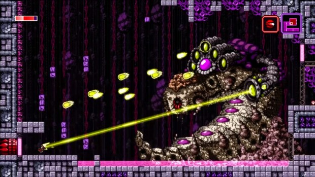 The boss rooms in Axiom Verge can sometimes seem larger than life.